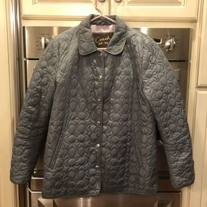 Coach CC print puffer coat